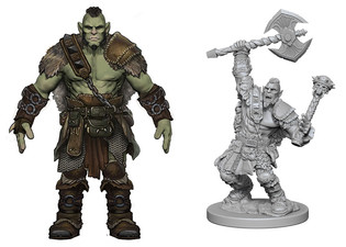 Half Orc Warrior Concept Design