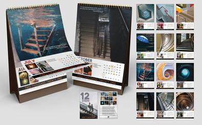 12 Steps Calendar Design