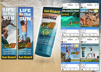 Sunscreen Packaging & Ads
