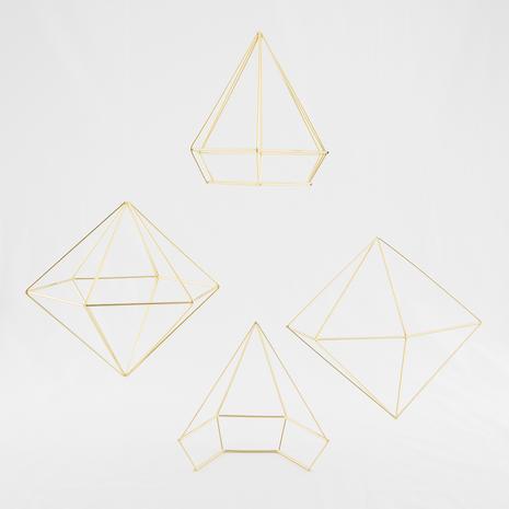 Formes géométriques or