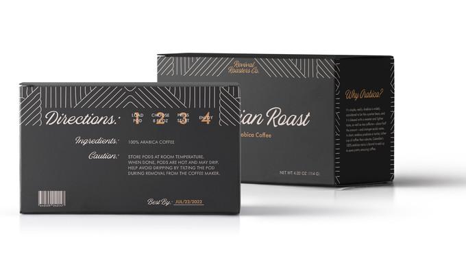 Columbian Roast Coffee Pod Packaging