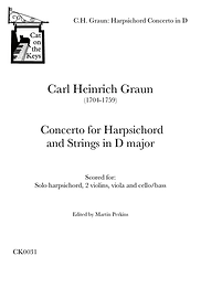 Graun - Harpsichord Concerto in D. Digital Download