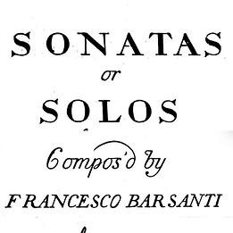 Backing Track: Barsanti – Recorder Sonata in D minor, op. 1, no.1