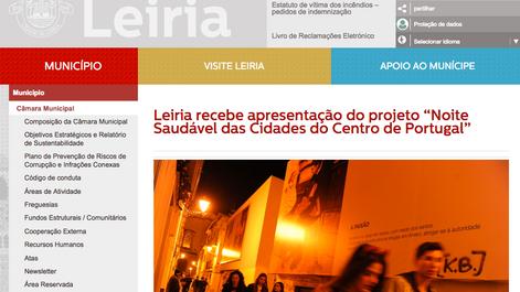 """Leiria recebe apresentação do projeto """"Noite Saudável das Cidades do Centro de Portugal"""""""