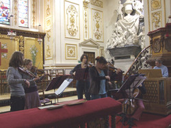 Rehearsing Bach in Gt Witley, 2010