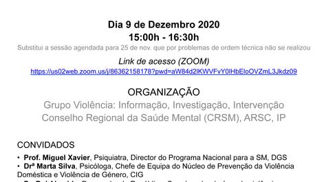 9.12.2020   Saúde Mental, Violência nas Relações Íntimas e Pandemia - webinar 15h