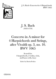 J S Bach - Concerto for 4 Harpsichords. Digital Download