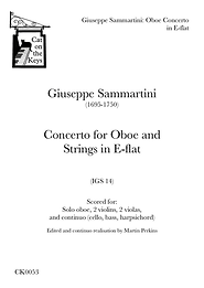 Sammartini - Oboe concerto in E-flat. Digital Download.
