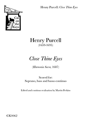 Purcell - Close thine Eyes. Digital Download.