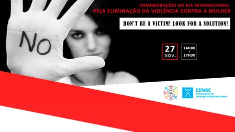 27.11.2019   Comem. Dia Internacional para a Eliminação da Violência contra as Mulheres - ESTeSC