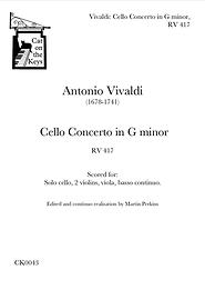 Vivaldi - Cello Concerto in G minor, RV417. Digital Download.