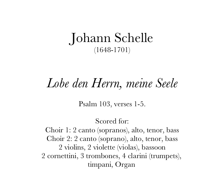 Schelle - Lobe den Herrn, meine Seele - PARTS. Digital Download.