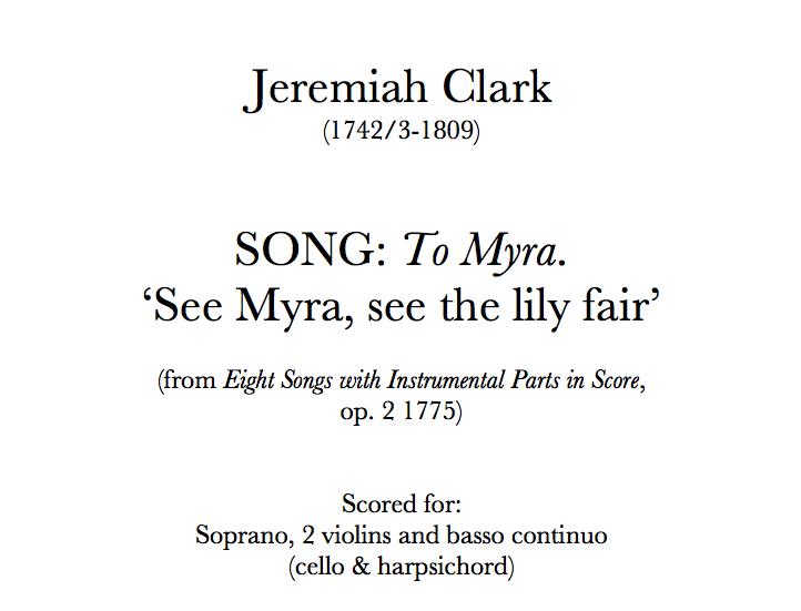 Clark - Song: 'To Myra'. Digital Download