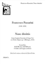 Passarini - Nunc dimittis. Digital Download.