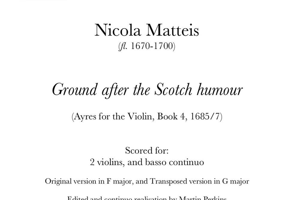 Matteis - Ground after the Scotch humour. Digital Download.