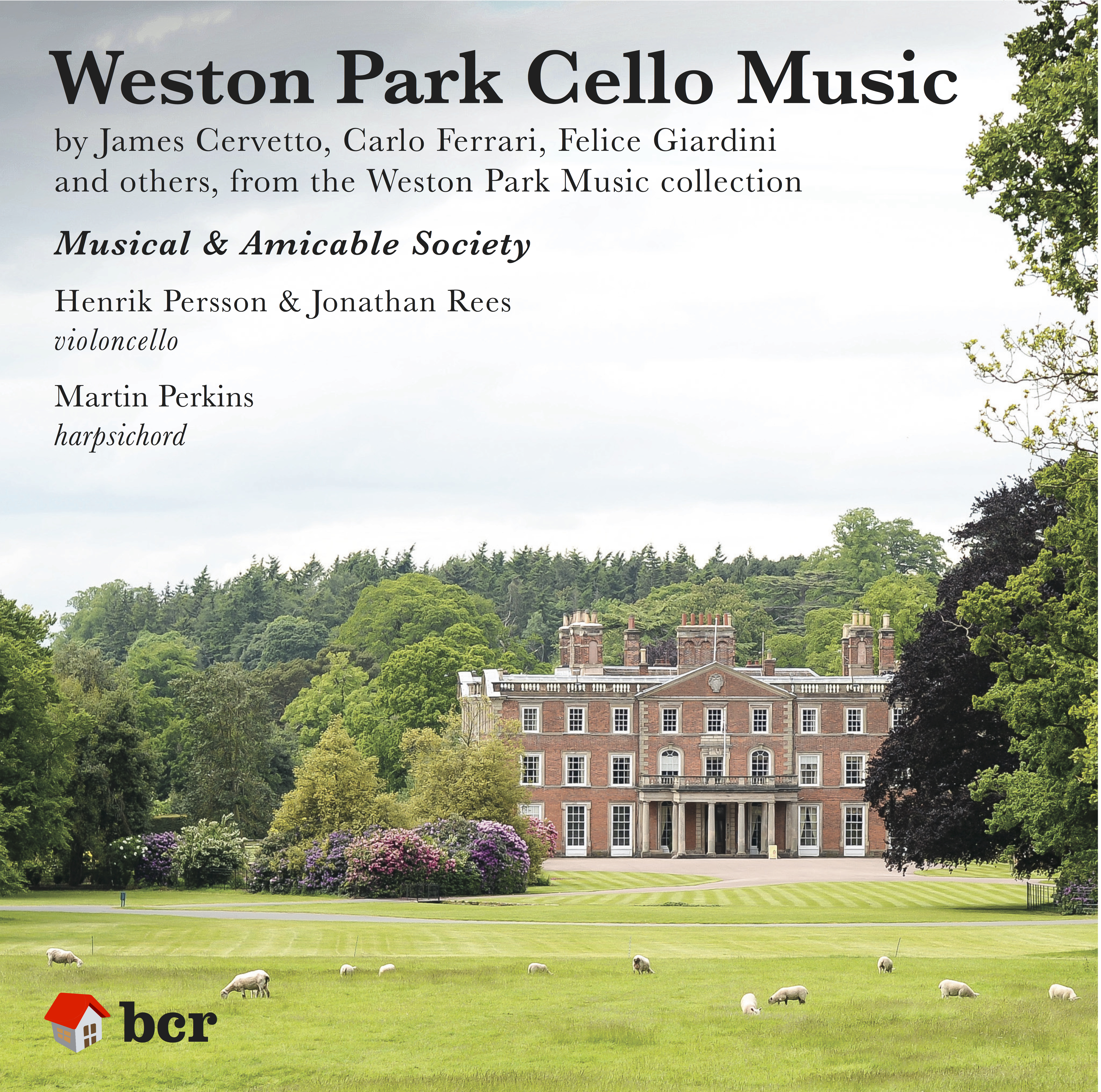 'Weston Park Cello Music' CD, 2018