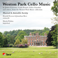 'Weston Park Cello Music' CD, 2018
