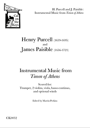 Purcell - Music from Timon of Athens. Digital Download.