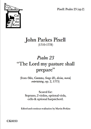 Pixell - Psalm 23: 'The Lord my pasture shall prepare'. Digital Download.