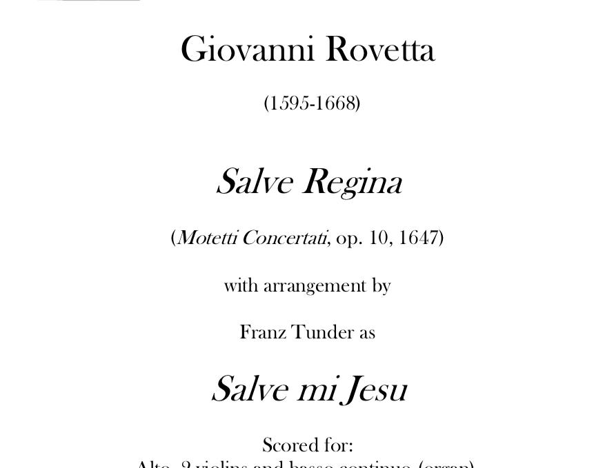 Rovetta/Tunder - Salve Regina/Salve mi Jesu