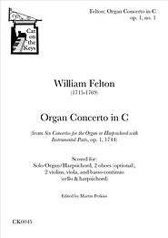 Felton - Organ Concerto in C, op. 1, no. 1. Digital Download