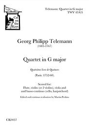 Telemann - Quartet in G major. Digital Download.
