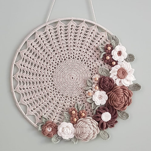 Mandala Bloemenboeket Grijs/Taupe
