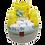 Thumbnail: Commodemandje Ecru met groene rand
