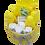 Thumbnail: Commodemandje geel/grijs