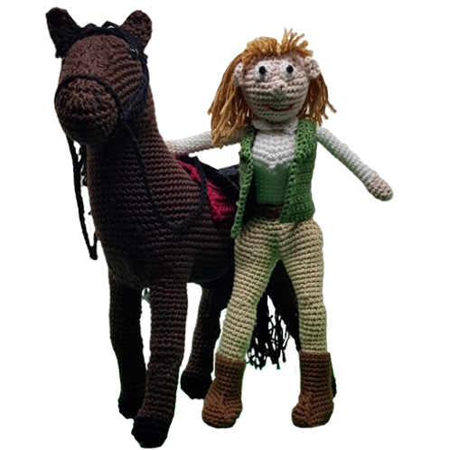 Paard met Amazone