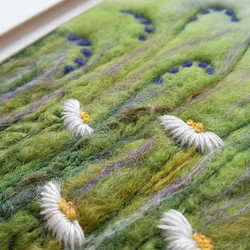 felted bluebells and daisies picture