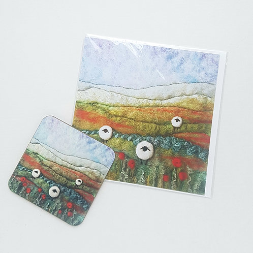 Coaster and Gift Card set