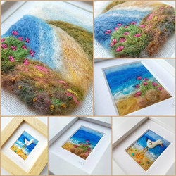 coastal felted pictures