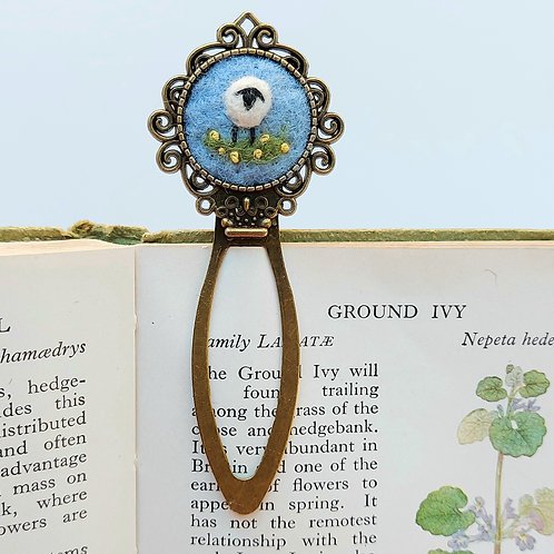 Sheep Bookmark - Felted and Embroidered Page Marker
