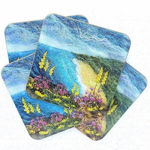 Coastal Flowers Coaster