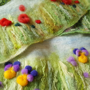 Needle felting inspiration from the countryside & WOYWW