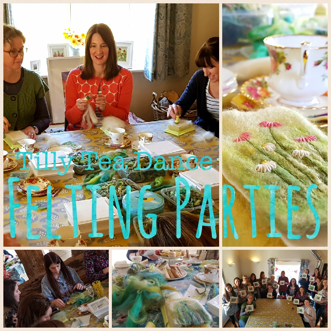 Tilly Tea Dance felting party collage