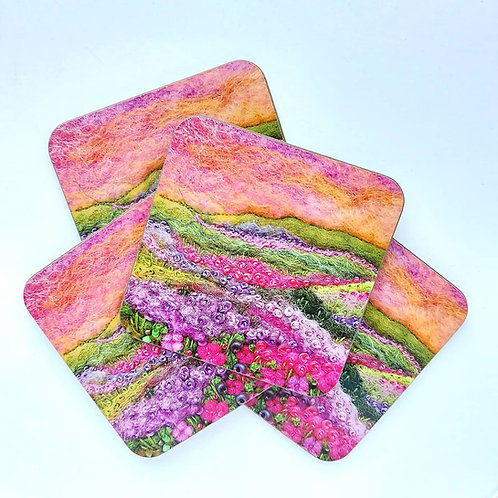 Heather Sunset Coaster