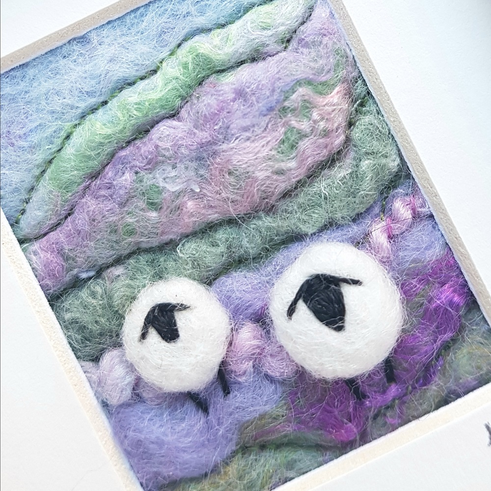 Felt sheep picture