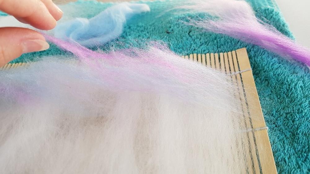 merino wool used in wet felting