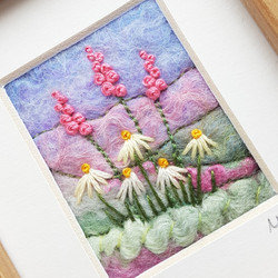 Embroidered flowers picture