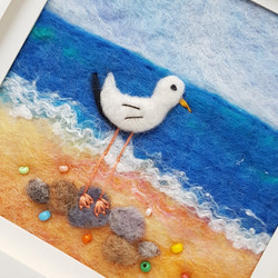 Felted Seagull Picture