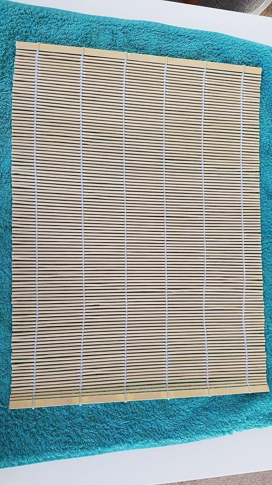 wet felting towel and bamboo mat