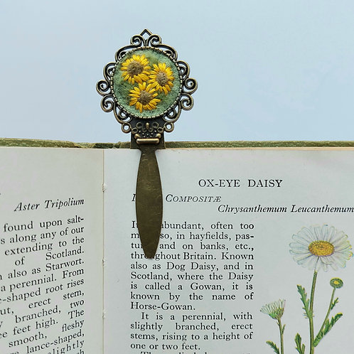 Sunflower Bookmark - Felted and Embroidered Page Marker