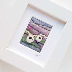 purple felted sheep landscape 2