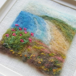 Felted seascape & other new designs & WOYWW