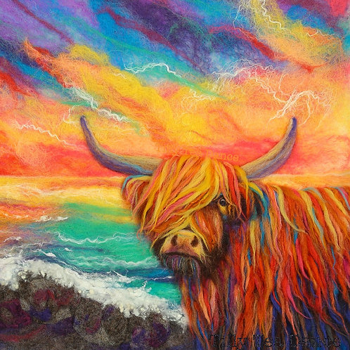 McFelty the Highland Cow limited edition print