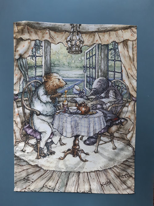 Wind in the Willows 'All Over Egg' Tea Towel