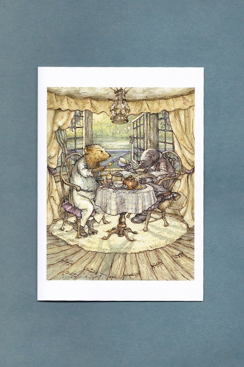 """Wind in the Willows 'All Over Egg' Greeting/ Birthday Card 5"""" x 7"""""""