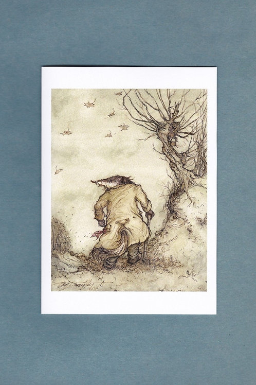 """Wind in the Willows 'Any Friend Of Mine' Greeting/ Birthday Card 5"""" x 7"""""""